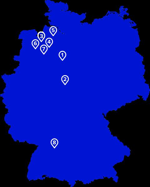 Mapa ciudades Alemania