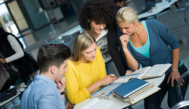 Alumnos estudiando idiomas